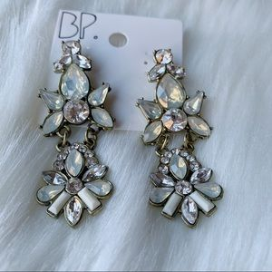 BP Rhinestone Floral Chandelier Earrings